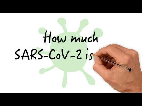 How much SARS-CoV-2 is there in the world?