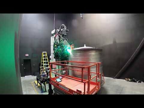 Timelapse of printing the Terran 1 rocket's second stage